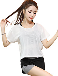 Women's Short Sleeve Running Tops Breathable Quick Dry Sports Wear Yoga Exercise & Fitness Running Modal Polyester Loose