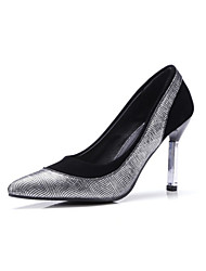 Women's Heels Spring Summer Fall Winter Velvet Customized Materials Office & Career Dress Party & Evening Stiletto Heel Split JointGold