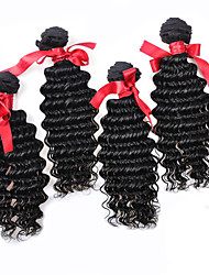 EVET Brazilian Loose Wave Hair Weaves Bundles Brazilian Human Hair #1B Extensions 4pcs 400g