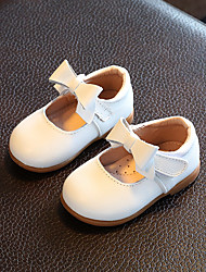 Baby Flats Comfort Flower Girl Shoes Leatherette Spring Fall Casual Outdoor Walking Comfort Flower Girl Shoes Magic Tape Low Heel White