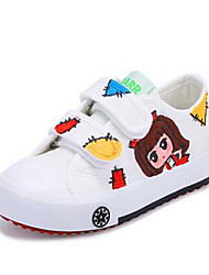 Girl's Sneakers Comfort Canvas Casual White