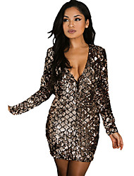 Women's Sparkle Sequin Mini Club Dress