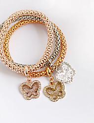 Women's Leather Bracelet Leather Simulated Diamond Punk Bohemia Animal Shape Rose Gold Jewelry 1pc