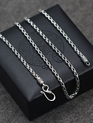 Men's Women's Pendant Necklaces Chain Necklaces Collar Necklace Jewelry Single Strand Jewelry Sterling Silver Basic Vintage Classic