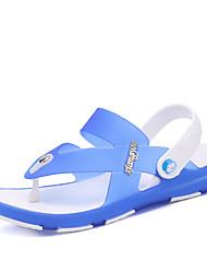 Herren-Slippers & Flip-Flops-Outddor Lässig-GummiAndere-Blau Grau