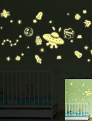 1Pcs  Luminous Wall Stickers Fluorescence  Small Universe Permanent Luminous
