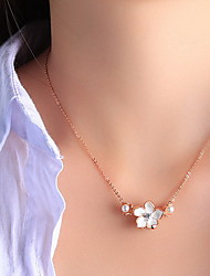 Pendants Pearl Alloy Basic Unique Design Flower Style Fashion Yellow Jewelry Daily 1pc