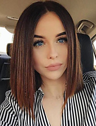 Top Grade Brazilia Hair Short Bob Full Lace Wig Straight Hair Ombre T1B/Middle Brown Color Human Virgin Hair Lace Bob Wigs For Fashion Woman