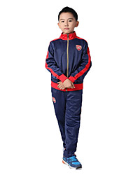 Kid's Soccer Clothing Sets/Suits Breathable Comfortable Spring Fall/Autumn Winter Solid Terylene Football/Soccer Red Blue