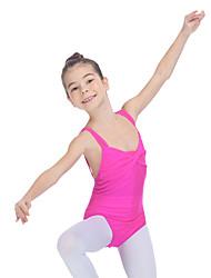 Ballet Leotards Women's Children's Training Nylon Lycra Pleated 1 Piece Sleeveless Leotard