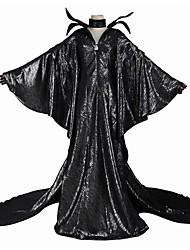 Fantasias de Cosplay Artigos de Halloween Festa a Fantasia Baile de Máscara Mago/Bruxa Fantasias Cosplay de Filmes Preto PoásVestido Mais