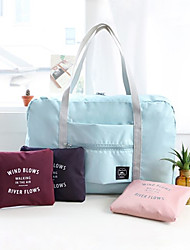 1 PC Travel Bag Handbag Waterproof Foldable Multi-function for Travel Storage Polyester-Blushing Pink Dark Red Light Blue Dark Navy