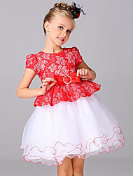 Girl's Casual/Daily Patchwork Dress,Polyester Summer Short Sleeve