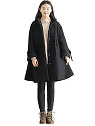 registe seções melancolia / long Petersburgo lã pétala manga do casaco