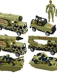 Veículos militares Puxar para trás Veículos 1:20 ABS Verde