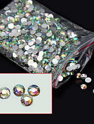1000pcs/pack 4mm New Arrive Glitter Acrylic Nail Art AB Crystal Rhinestone Charm DIY Beauty 3d Nail Decoration Tools
