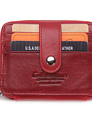Unisex Cowhide Casual Card & ID Holder All Seasons