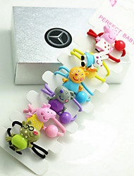 6 Pcs Hair Rope Elastic Girl Children Hair Accessories Cartoon Animal