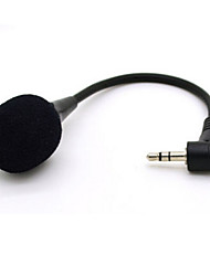 High Quality 3.5mm Mini Flexible Neck Microphone Mic For PC Laptop MSN Skype Black