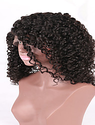 7a alta qualidade de cor virgem humana brasileira glueless cheia do laço peruca natural para fornecedor china mulher negra