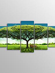 Canvas Print Landscape Realism,Five Panels Canvas Horizontal Print Wall Decor For Home Decoration