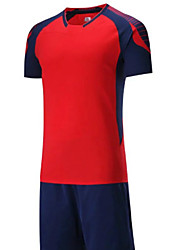 Men's Soccer Clothing Sets/Suits Breathable Comfortable Summer Patchwork Terylene Football/Soccer Green Red Black Blue Orange