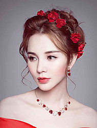 Women's Rhinestone Fabric Headpiece-Wedding Special Occasion Flowers 1 Piece