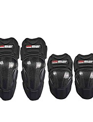 Carbon Fiber Motorcycle Motocross Knee Protection Pads Racing ATV Knee Elbow Protectors Pads Guards Armor Protective Gear HX-P18