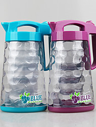 Food Grade Set of 5 pcs Plastic Water Juice JugWater Pitcher with Handle