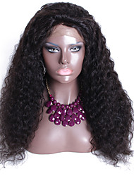 Indian Hair Glueless Curly Full Lace Human Hair Natural Color Free Style Full Lace Wig