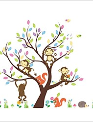 ZOOYOO® Monkey and Tree Removable Wall Stickers Window Sticker Art Decals Mural DIY Wallpaper for Room Decal
