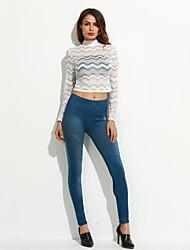 Damen Jeans Legging,Polyester