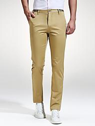 Hommes Grandes Tailles Mince Chino Pantalon,Vintage simple Street Chic Décontracté / Quotidien Travail Vacances Couleur PleineTaille