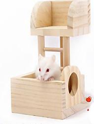Rodents Hutches Toy Castle Wood Khaki