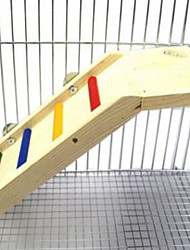 Rodents Cage Accessories Wood Ladder Multicolor