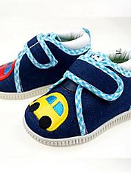 Girls' Baby Flats Slingback Canvas Summer Casual Slingback Flower Flat Heel Blue Flat