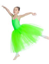 Ballet Tutus & Skirts Women's Children's Performance Nylon Tulle Lycra 1 Piece Sleeveless Dress