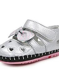 Mädchen-Sandalen-Lässig-PUKomfort-Rosa Weiß Silber
