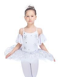 Balé Vestidos Mulheres Crianças Actuação Algodão Tule Licra 1 Peça Tutus