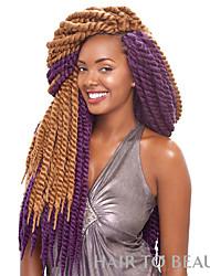Havana mambo twist crochet braids Box Braids synthetic hair braiding Crochet Twist Braids Hair Extensions Kanekalon Hair Braids hair extension