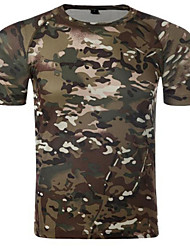 Unisex T-shirt Hunting Breathable Wearable Comfortable Summer Camouflage