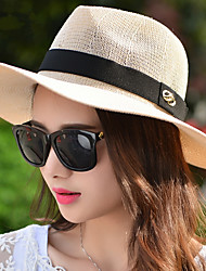 British Style Summer Fashion Cloth Iron Buckle Cotton Line Along The Hat Hat Lady Small Hat Jazz Hat