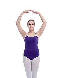 Ballet Leotards Women's Children's Training Cotton Lycra Splicing 1 Piece Sleeveless Leotard