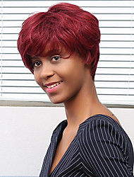 New Pattern Fluffy Claret Many Colors  Human Hair Wig