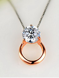 Pendants Zircon Cubic Zirconia Alloy Basic Fashion Luxury Jewelry Gold Jewelry Daily Casual 1pc