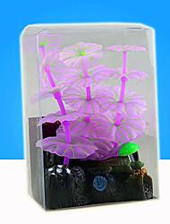 Оформление аквариума Водное растение Искусственная Фосфоресцирующий Каучук