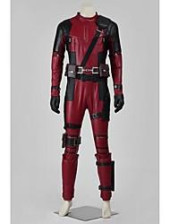 Costumes de Cosplay Costume de Soirée Bal Masqué Pour Halloween Superhéros Cosplay Cosplay de Film Rouge Couleur Pleine
