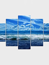 Stretched Canvas Print Landscape Leisure Modern Mediterranean,Five Panels Canvas Any Shape Print Wall Decor For Home Decoration