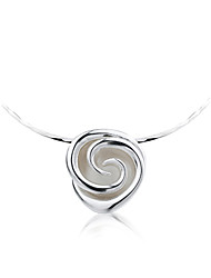 SILVERAGE Real 925 Sterling Silver Rose Choker Necklaces For Women Fine Jewelry 2016 Christmas Gift New Year