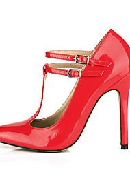 Women's Heels Spring Summer Mary Jane PU Wedding Party & Evening Dress Stiletto Heel Yellow Red White Light Pink Light Purple Dark Blue